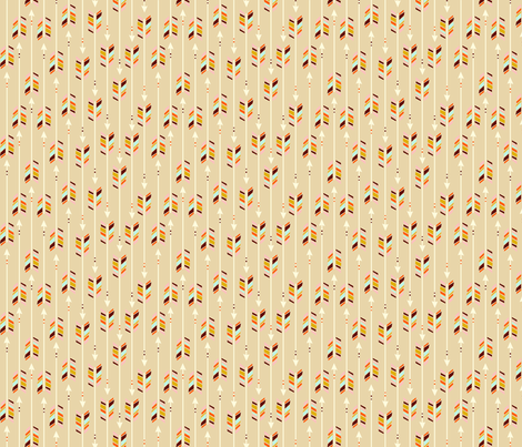Small Arrows: Sand fabric by nadiahassan on Spoonflower - custom fabric