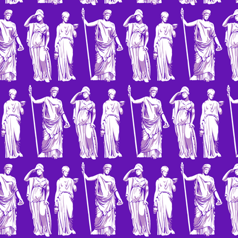 Kolonaki Goddess - Violet fabric by siya on Spoonflower - custom fabric