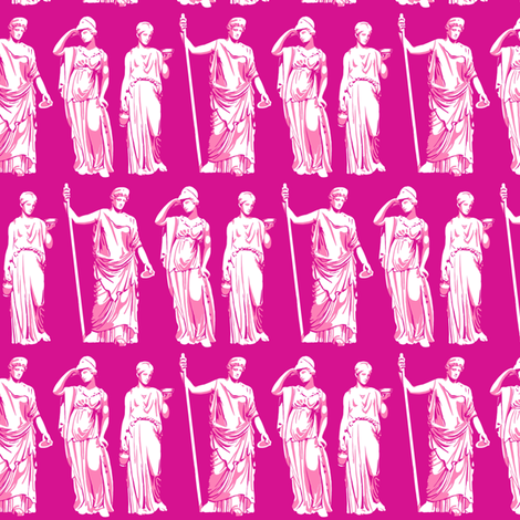 Kolonaki Goddess - Magenta fabric by siya on Spoonflower - custom fabric