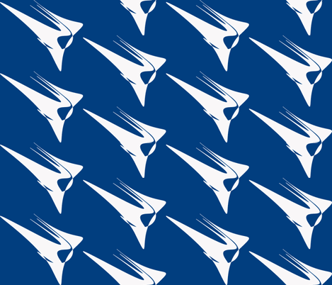 Wing On Blue fabric by mikep on Spoonflower - custom fabric