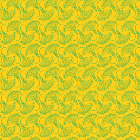 Kolonaki Morning Glory - Yellow fabric by siya on Spoonflower - custom fabric
