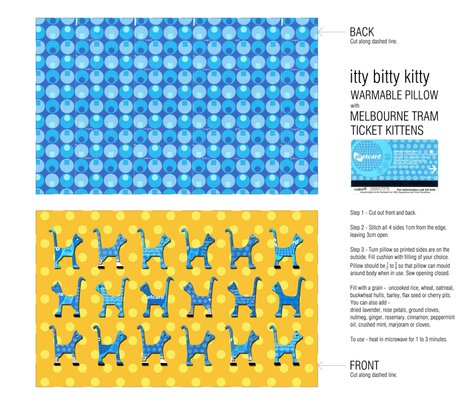 itty bitty kitty pillow fabric by kirstylovescardboard on Spoonflower - custom fabric