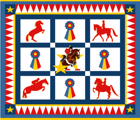 English_Champions_Throw fabric by dehaan_designs on Spoonflower - custom fabric