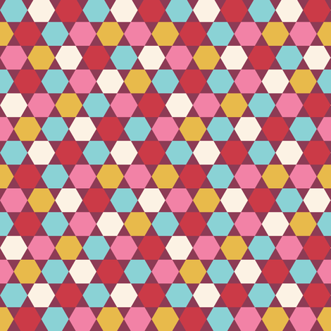 HEXAGONS_BURGUNDY