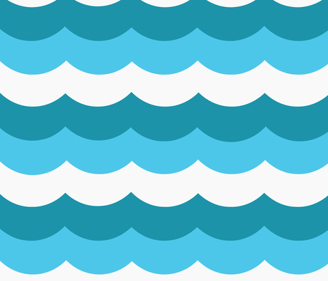 oceanwaves fabric by myracle on Spoonflower - custom fabric