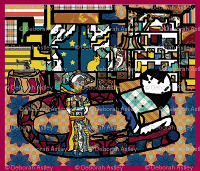 The Sitting Room of the Lady of Colors (repeat design)