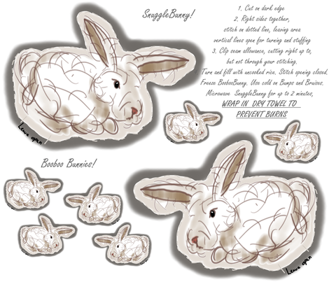 Snugglebunny fabric by luvinewe on Spoonflower - custom fabric