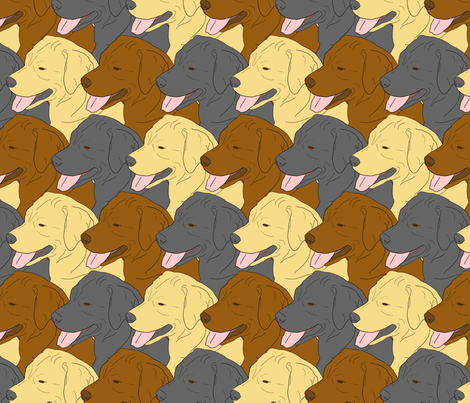 Labrador Retriever faces fabric by rusticcorgi on Spoonflower - custom fabric