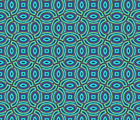 rings geometric coordinate peacock feathers fabric by katarina on Spoonflower - custom fabric