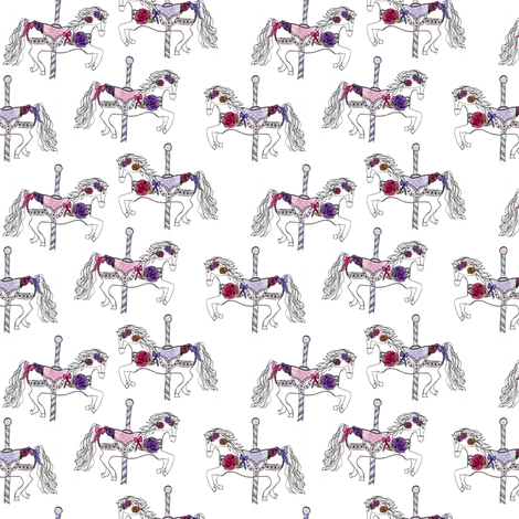 carousels fabric by abbyg on Spoonflower - custom fabric
