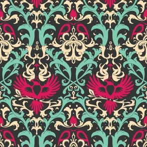 Bird Damask variation 2
