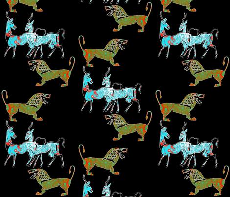 Prey-Predator fabric by joancaronil on Spoonflower - custom fabric