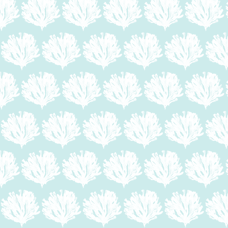 Seaweed Love (lt aqua) fabric by pattyryboltdesigns on Spoonflower - custom fabric