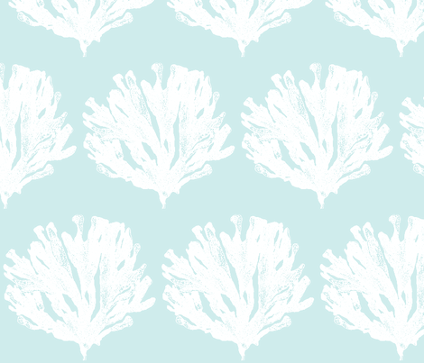 Seaweed Love(lt aqua) fabric by pattyryboltdesigns on Spoonflower - custom fabric