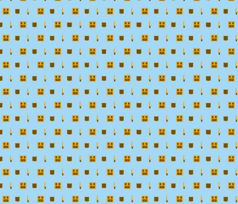 Link checked the chest! blue and gold fabric by occiferbetty on Spoonflower - custom fabric