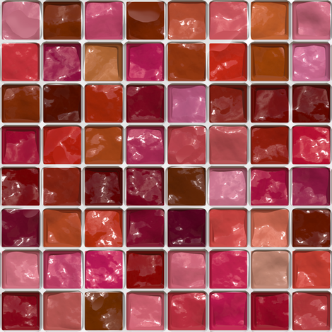 Got Makeup? Lipstick Palette fabric by bonnie_phantasm on Spoonflower - custom fabric