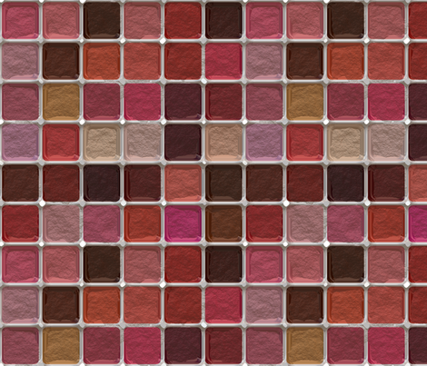 Got Makeup? Blush Palette fabric by bonnie_phantasm on Spoonflower - custom fabric