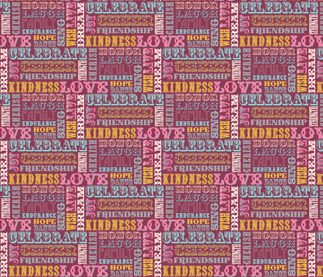 WORDS_BURGUNDY fabric by natasha_k_ on Spoonflower - custom fabric