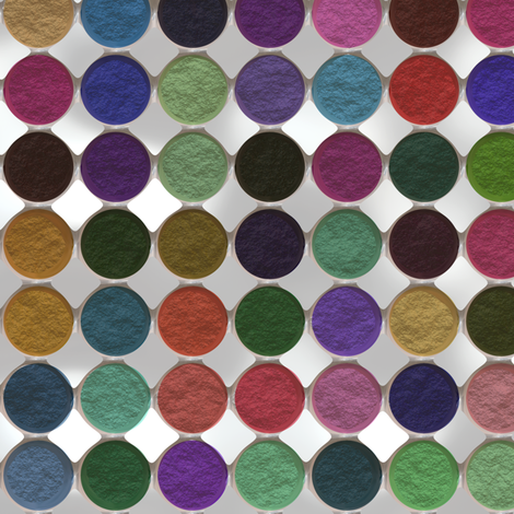 Got Makeup? Eyeshadow Palette fabric by bonnie_phantasm on Spoonflower - custom fabric