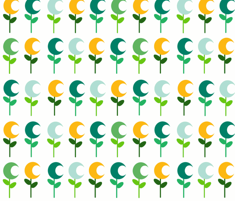 Moonflower  fabric by soquaint on Spoonflower - custom fabric