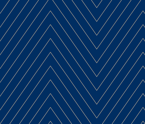 Pin Stripe Chevron- Navy2 fabric by mgterry on Spoonflower - custom fabric