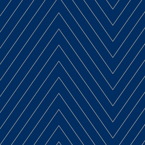 Pin Stripe Chevron- Navy2