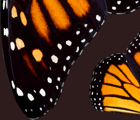 Giant Orange Monarch Butterfly Wings fabric by bonnie_phantasm on Spoonflower - custom fabric