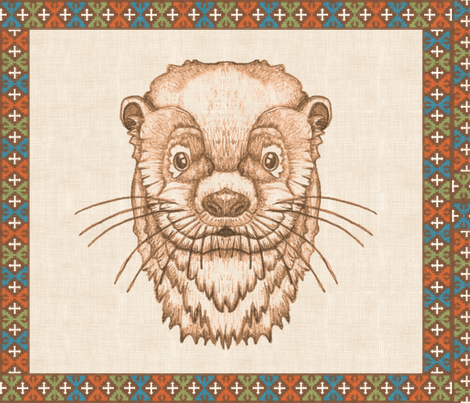 Huillin (linen, Tehuelches design border)