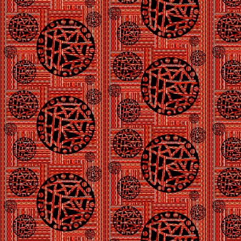 Multi Interstripe - Red With Black Cutouts