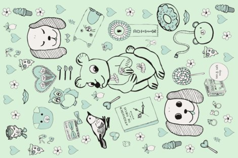 Rpygmyhippocottonvoilescarf-27x18-final-2greens-vector-fab.pdf_shop_preview