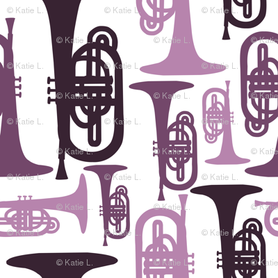 Purple Mellophones