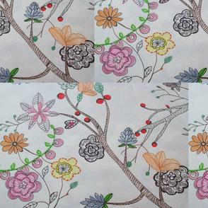 stylised floral arrangement