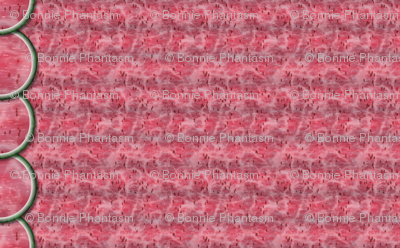 Watermelon Mania - Single Melon - Pink Flesh - Border