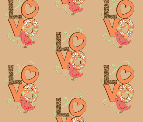 love fabric by annioutlife on Spoonflower - custom fabric