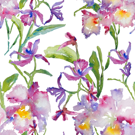Orchids_Purple fabric by susan_magdangal on Spoonflower - custom fabric