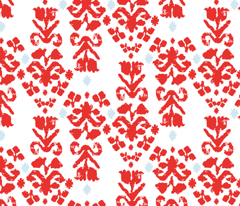 Red Tulips fabric by pocu on Spoonflower - custom fabric
