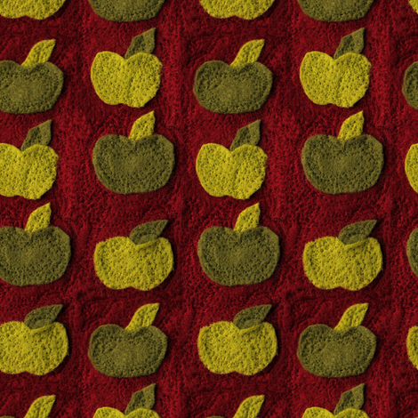 apple_felt_pattern fabric by lusyspoon on Spoonflower - custom fabric