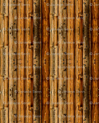 Doll House Wood Panelling/fencing.