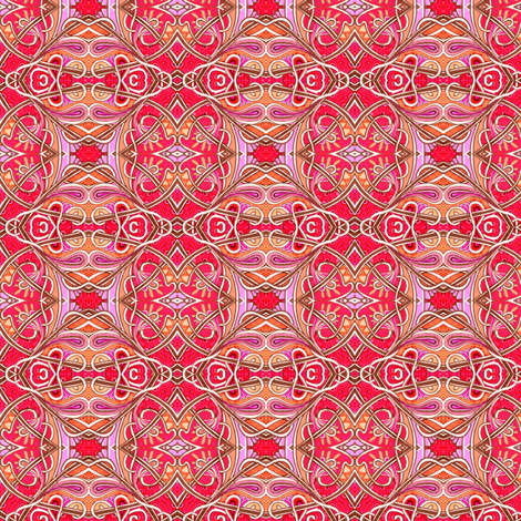 Spadeflowers on Fire (a bright diamond patchwork) fabric by edsel2084 on Spoonflower - custom fabric