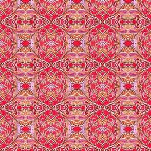 Spadeflowers on Fire (a bright diamond patchwork)