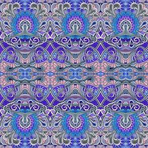 Zig Zag Scallop Chrysanthemum Paisley Psychedelic Stripe