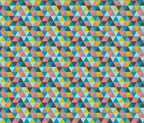 triangles multi fabric by katarina on Spoonflower - custom fabric