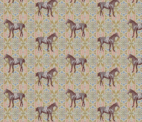 williammorrishorse2 fabric by ragan on Spoonflower - custom fabric
