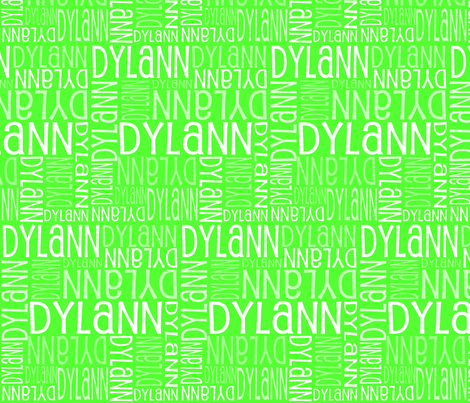 Personalised Name Fabric - Green 2