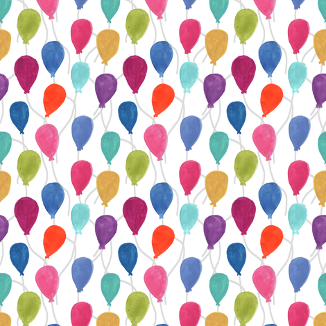 Balloons fabric by abbyg on Spoonflower - custom fabric