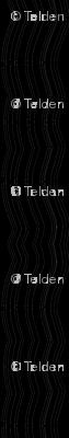 Zoom Wavy Stripes Vertical - Black and White - Medium