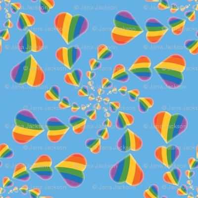 Rainbow Heart Swirl