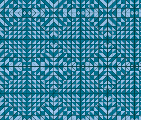 Blue Quilted fabric by kelsey_joronen on Spoonflower - custom fabric