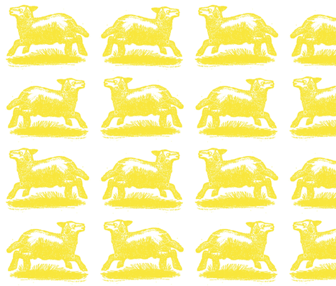 sunny_lambs fabric by danibrighton on Spoonflower - custom fabric