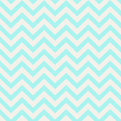 Mint and Cream Chevron